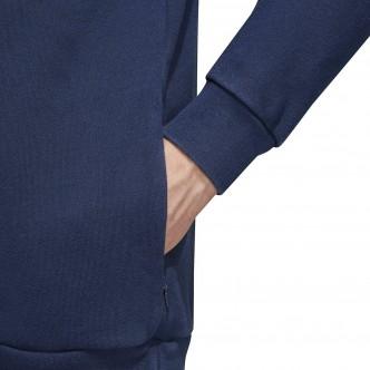 Adidas - Felpa Uomo Trefoil con cappuccio - Blu
