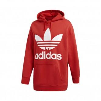 Adidas - Felpa Trefoil Oversized con cappuccio Uomo - Rossa