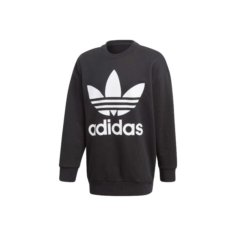 Adidas - Felpa Oversize Trefoil girocollo - Nero
