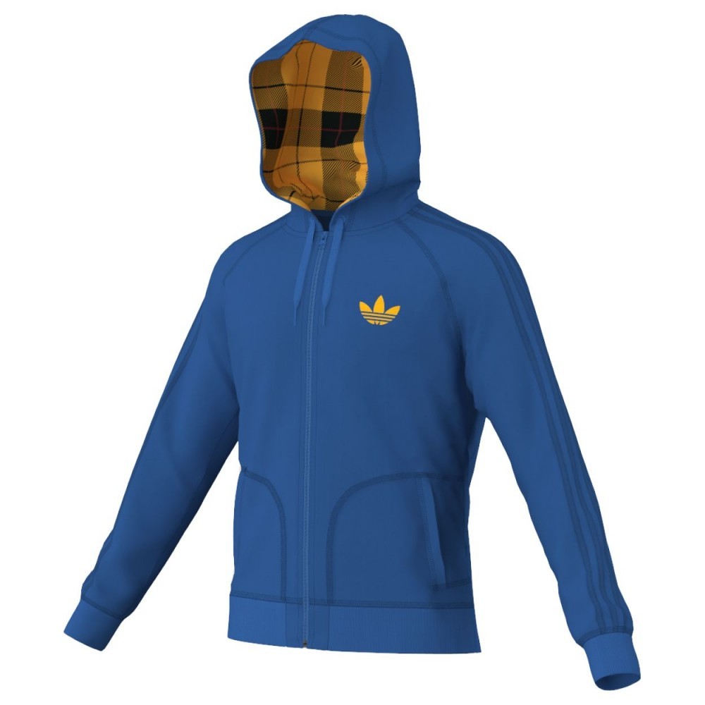 Adidas - Felpa Slim Uomo - Blu