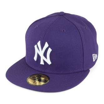 CAPPELLO NEW ERA NEW YORK YANKEES DARK PURPLE ESSENTIAL 39FIFTY