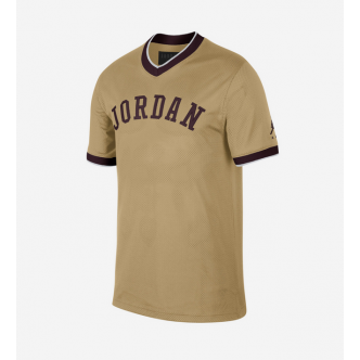 NIKE JORDAN AIR MESH JERSEY CLUB GOLD/NIGHT MAROON AR0028-723