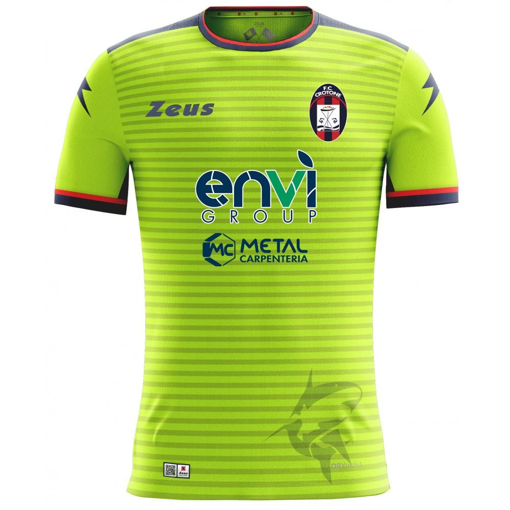 MAGLIA UFFICIALE F.C. CROTONE AWAY GIALLO FLUO (2018-2019)