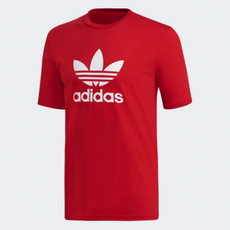 Adidas Trefoil T-Shirt Rosso/Bianco DX3609