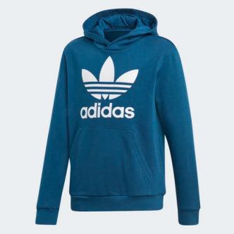Adidas Hoodie Trefoil Blu/Bianco DV2871