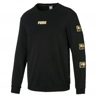 Puma Holiday Pack Crew Sweat FL Cotton Nero 581850-01