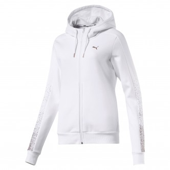 Puma Holiday Pack FZHoodie FL Wns Cotton Bianco 581854-02