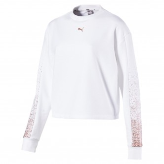 Puma Holiday Pack Crew Sweat FL Wmns Cotton Bianco 581856-02