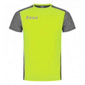 T-Shirt Click Zeus Sport Grigio/Giallo Fluo