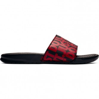 "Nike Benassi ""Just Do It"" Nero/Rosso 631261-025"