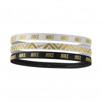 Nike - Swoosh Headbands 3pz col. Bianco/Nero/Oro cod. NJNG8912OS