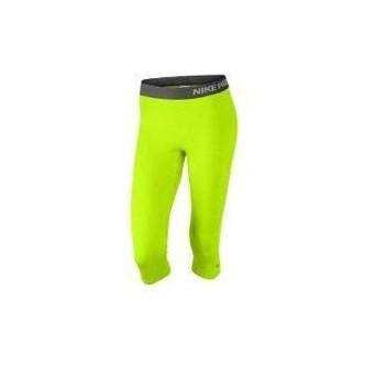 Nike Pro Capri Compression Tights Giallo Fluo 589366-702