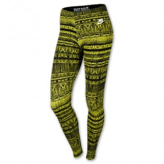 Nike Leg-A-See Leggings Volt Black 586399-547