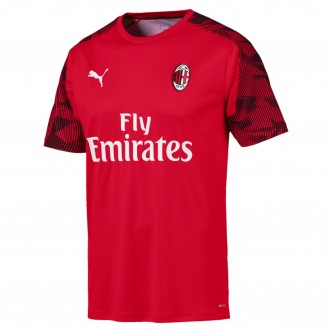 Puma Official A.C. Milan Training Jersey Rosso/Nero (2019/2020) 756141-01