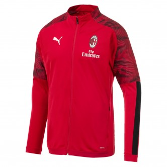 Puma Official A.C. Milan Poly Jacket Rosso/Nero (2019/2020) 756148-01