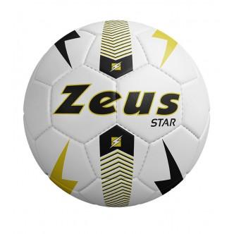 Pallone Star Bianco/Nero/Giallo Fluo Zeus Sport