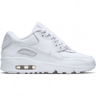 Nike Air Max 90 Leather (GS) Full White 833412-100