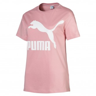 Puma Classic Logo Tee Rosa 595514-14