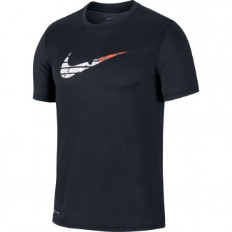 Nike Dri Fit Swoosh Tee Nero CI7487-010