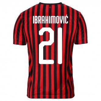 Maglia AC Milan 2019/2020 con personalizzazione Zlatan Ibrahimović