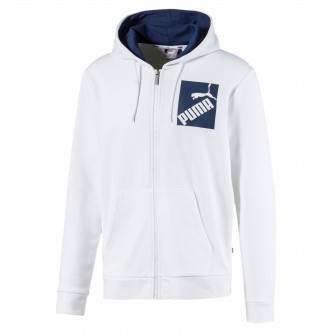 Puma Big Logo FZ Hoodie Bianco-Blu 581433-02