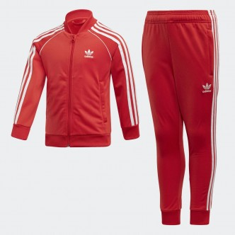 Adidas Superstar Tracksuit Rosso-Bianco FM5626