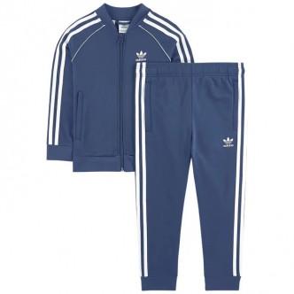 Adidas Original Superstar Tracksuit Blu-Bianco FM5622