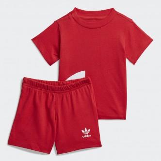 Adidas Trefoil Tee&Shorts Set Rosso FM5610