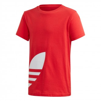 Adidas Big Trefoil Tee Rosso-Bianco FM5667