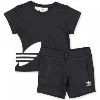 Adidas Trefoil Shorts&Tee Set Nero FM5617
