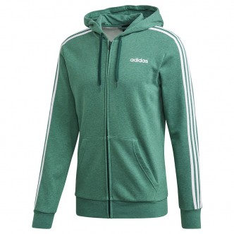Adidas Felpa Full Zip Essentials 3-Stripes Verde FM6090