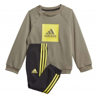 Adidas Three Stripes Logo Tracksuit Verde FR5306
