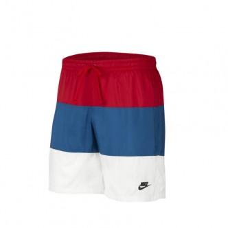 Nike SCE Short Bianco/Blu/Rosso CJ4486-657