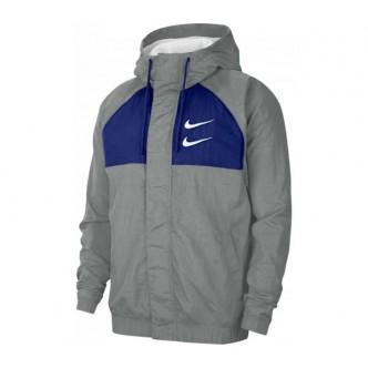 Nike Swoosh Windjacket Grigio/Blu CJ4888-073