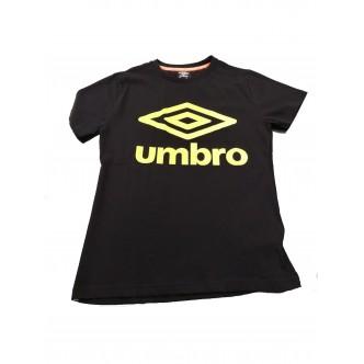 Umbro Logo T-Shirt Nero/Giallo Fluo
