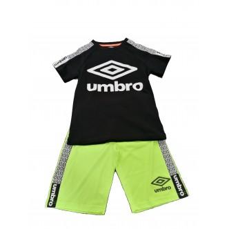 Umbro Short Set Nero/Verde Fluo