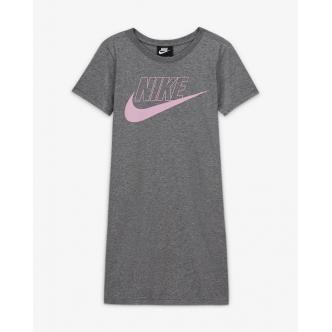 Nike Long Tee Dress Grigio/Rosa CU8375-091