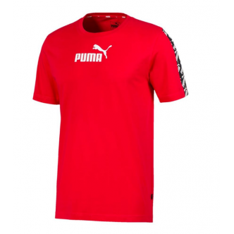 PUMA AMPLIFIED TEE ROSSO