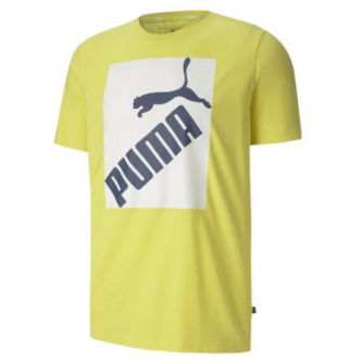 PUMA BIG LOGO TEE GIALLO