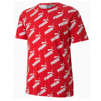 PUMA AMPLIFIED AOP TEE ROSSO/BIANCO