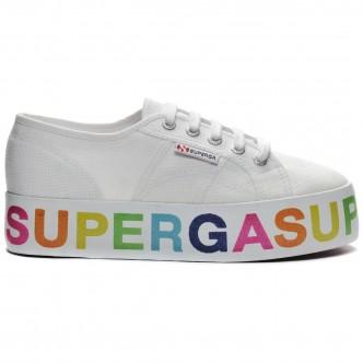 Superga Glitter-Lettering Bianco/Multicolore