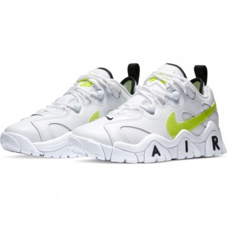 Nike Air Barrage Low. CK4355-103  WHITE/VOLT-BLACK   RAGAZZO. BIANCA