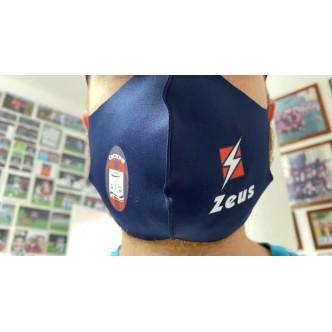 Mascherina FC Crotone lavabile colore BLU. MISURA UNICA