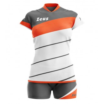KIT LYBRA DONNA BIANCO/ARANCIO VOLLEY ZEUS SPORT