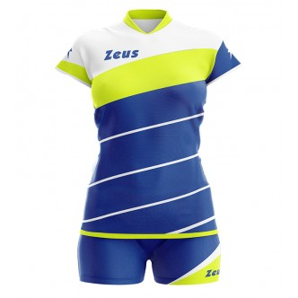 KIT LYBRA DONNA ELECTRIC ROYAL/GIALLOFLUO VOLLEY ZEUS SPORT