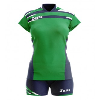 KIT ITACA DONNA VERDE BLU VOLLEY ZEUS SPORT