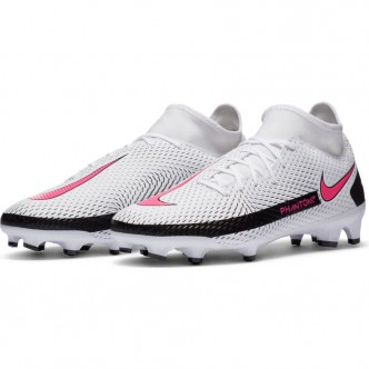 NIKE PHANTOM GT ACADEMY DYNAMIC FIT MG WHITE/PINK BLAST-BLACK Scarpe CW6667-160