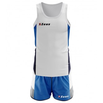 KIT BRUNO RUNNING BIANCO/ROYAL/BLU ZEUS SPORT