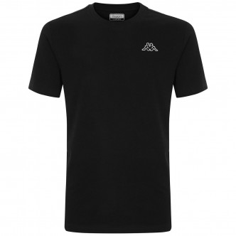 T-SHIRT KAPPA LOGO CAFERS SLIM NERO