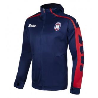 FELPA PRE-MATCH FC CROTONE CALCIO BLU ROSSO